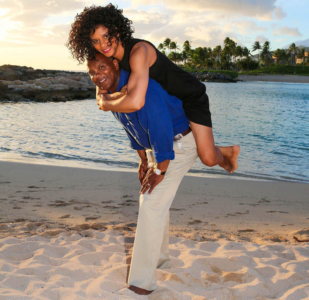 Sheila Qualls and Husband on the Beach